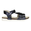 Dívčí sandály s třásněmi mini-b, modrá, 261-9612 - 16