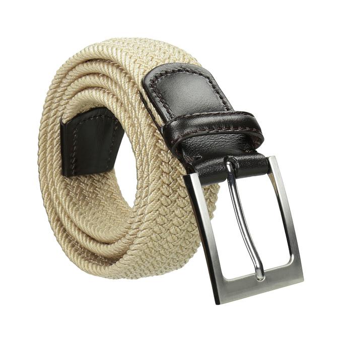 Pružný pánský opasek béžový bata, béžová, 959-8217 - 13