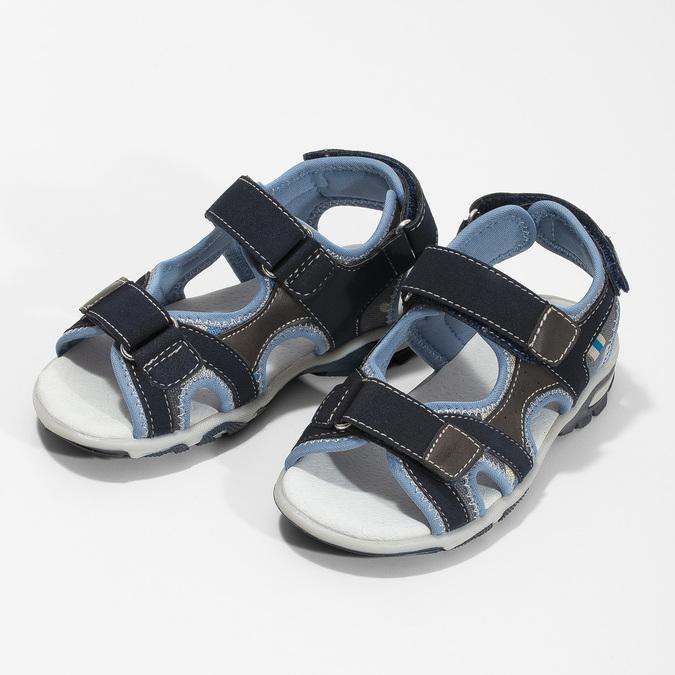 Chlapecké sandály na suchý zip modré mini-b, modrá, 261-9608 - 16