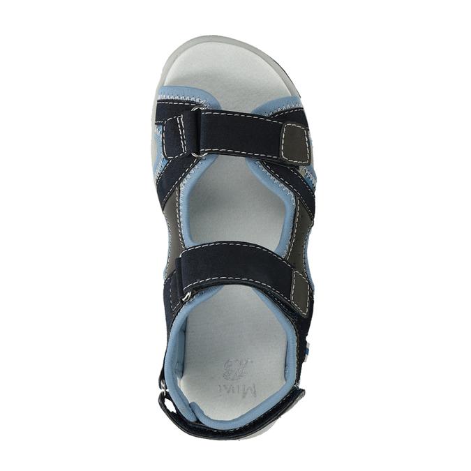 Chlapecké sandály na suchý zip modré mini-b, modrá, 261-9608 - 17