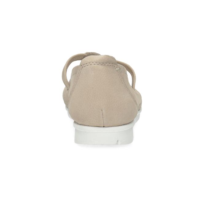 Kožené baleríny na výrazné podešvi bata, béžová, 526-8662 - 15