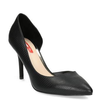 Černé lodičky na jehlovém podpatku bata-red-label, černá, 621-6606 - 13
