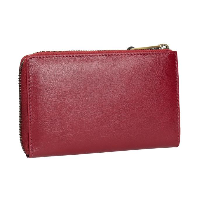 Červená dámská kožená peněženka bata, červená, 944-5602 - 13