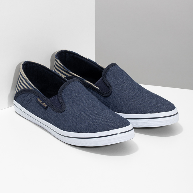 Dětské Slip-on v denimovém stylu north-star, modrá, 419-9615 - 26