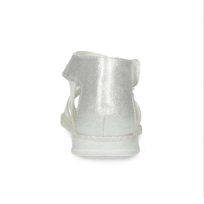 Dívčí stříbrné sandály s mašlí mini-b, stříbrná, 261-1117 - 15