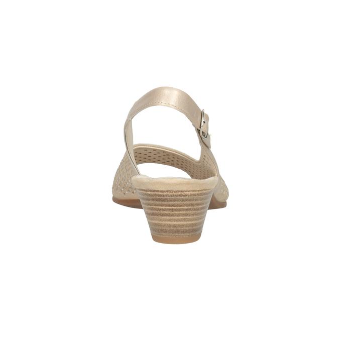 Béžové kožené sandály kamínky šíře H gabor, béžová, 663-8019 - 16
