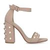 Dámské sandály na podpatku s perlami insolia, růžová, 769-5623 - 19