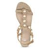 Zlaté sandály s perličkami bata, zlatá, 569-5606 - 17