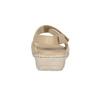 Dámské kožené sandály se suchými zipy béžové comfit, béžová, 566-8634 - 15