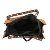 Oranžová shopper bag kabelka se cvočky bata, hnědá, 961-3296 - 15