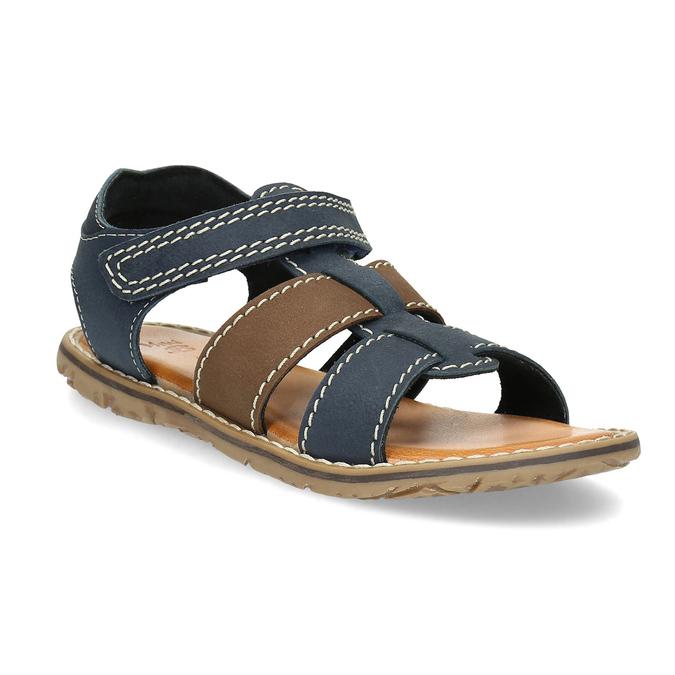 Chlapecké sandály z kůže mini-b, modrá, 366-9610 - 13