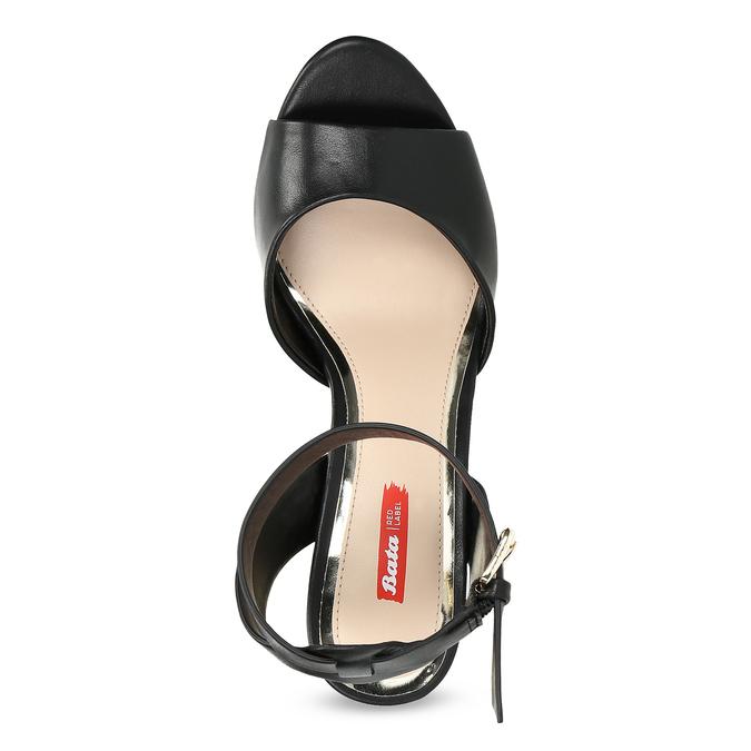 Černé sandály na zlatém podpatku bata-red-label, černá, 761-6619 - 17