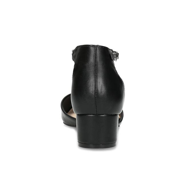 Lodičky na nízkém podpatku černé bata-red-label, černá, 621-6607 - 15