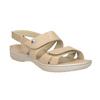 Dámské kožené sandály se suchými zipy béžové comfit, béžová, 566-8634 - 13