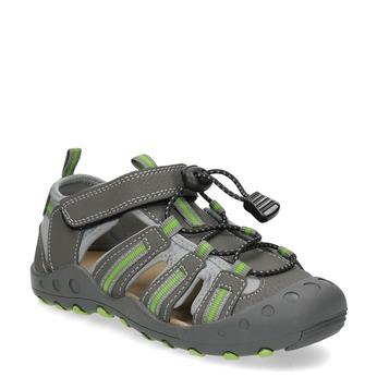 Dětské sandály s plnou špičkou mini-b, šedá, 461-2606 - 13