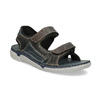 Kožené pánské sandály černo-modré weinbrenner, šedá, 866-4643 - 13