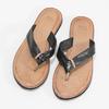 Černé kožené dámské žabky bata, černá, 566-6645 - 16
