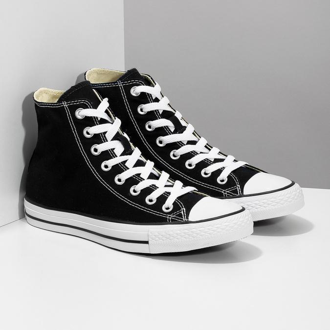 Pánské černo-bílé tenisky s gumovou špicí converse, černá, 889-6278 - 26