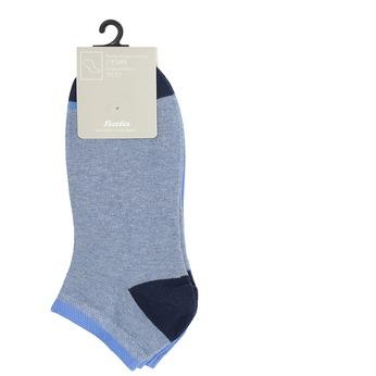 Světle modré kotníkové ponožky bata, modrá, 919-9804 - 13