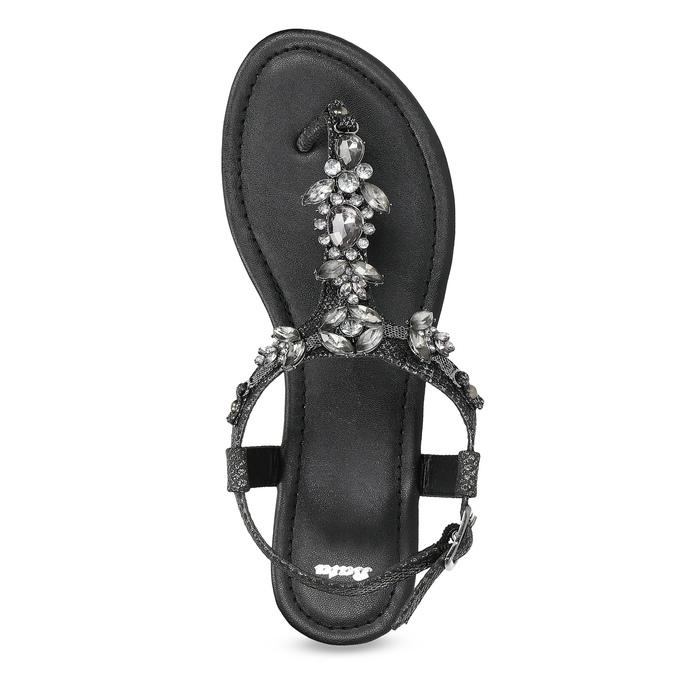 Černé dámské sandály s kamínky bata, černá, 561-6612 - 17