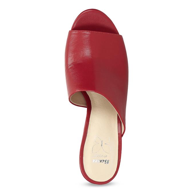 Červené nazouváky na podpatku insolia, červená, 761-5620 - 17