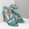 Dámské sandály s volánem tyrkysové insolia, tyrkysová, 769-9620 - 26