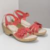 Sandály na stabilním podpatku s kytičkou comfit, červená, 661-5613 - 26