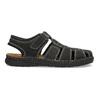 Pánské kožené sandály s plnou špičkou černé bata, černá, 866-6616 - 19
