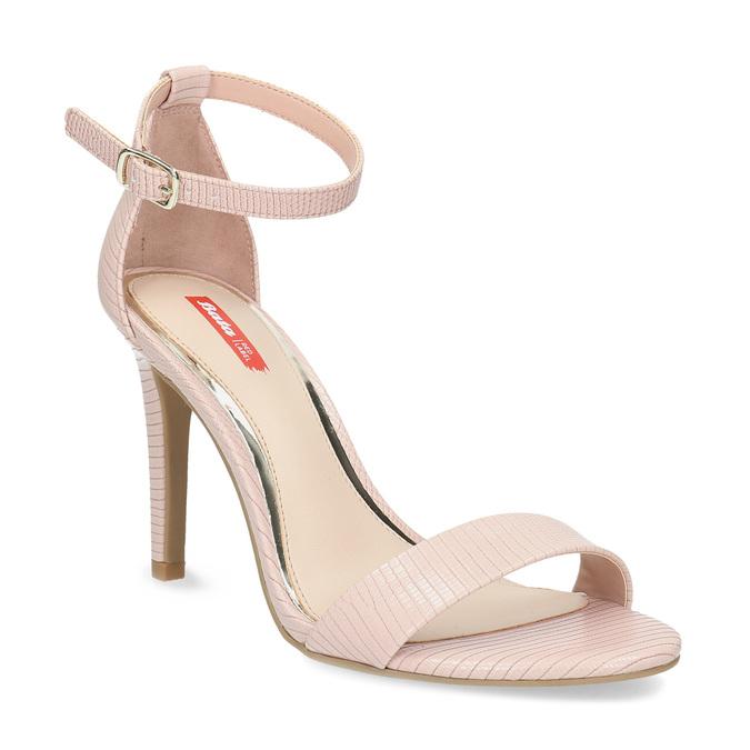 Růžové sandály na jehlovém podpatku bata-red-label, růžová, 661-5610 - 13