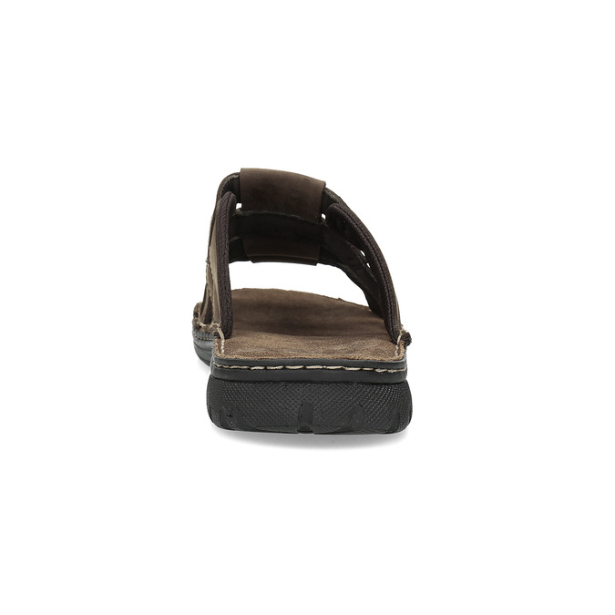 Pánské hnědé kožené nazouváky bata, hnědá, 876-4600 - 15