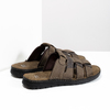 Pánské hnědé kožené nazouváky bata, hnědá, 876-4600 - 16