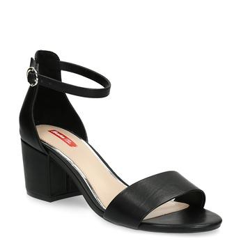 Černé sandály na podpatku bata-red-label, černá, 661-6609 - 13