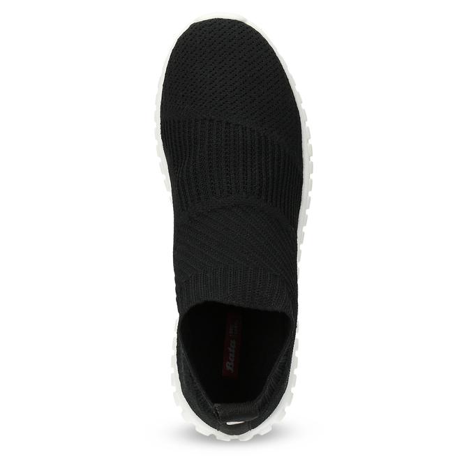 Dámské tenisky s úpletem černé bata-red-label, černá, 539-6603 - 17