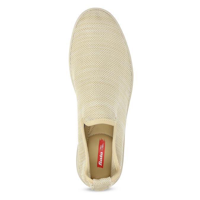 Béžové pánské Slip-on boty bata-red-label, béžová, 839-8601 - 17