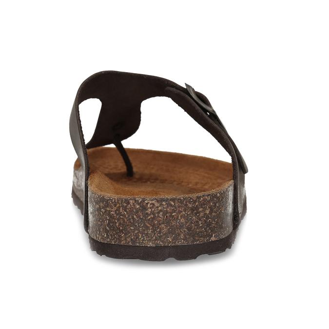 Pánské hnědé žabky z broušené kůže bata, hnědá, 866-4848 - 15