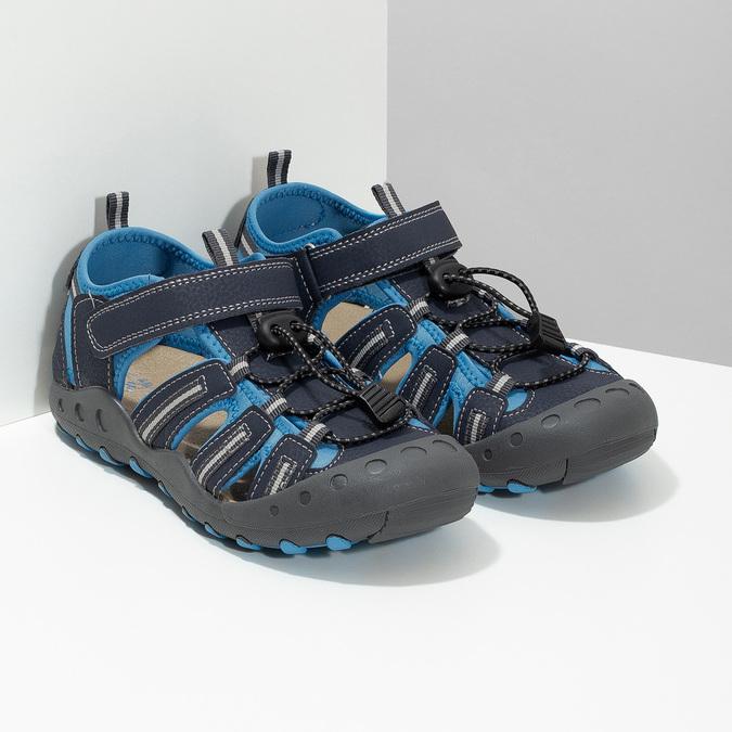 Dětské modré sandály mini-b, modrá, 461-9606 - 26