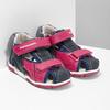 Dívčí sandály na suché zipy bubblegummers, růžová, 161-5604 - 26