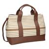 Hnědo-béžová kabelka s pruhy bata, béžová, 969-1307 - 13
