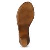 Kožené sandály na dřevěném podpatku béžové comfit, béžová, 666-8624 - 18