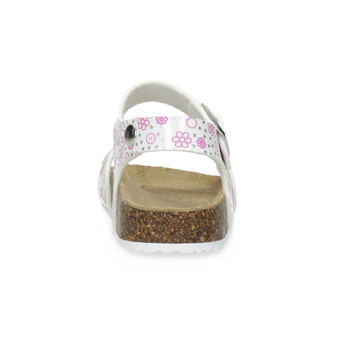 Dívčí sandály s korkovou podešví mini-b, bílá, 261-1212 - 15