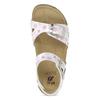 Dívčí sandály s korkovou podešví mini-b, bílá, 261-1212 - 17