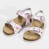 Dívčí sandály s korkovou podešví mini-b, bílá, 261-1212 - 16