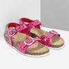 Dívčí korkové sandály růžové mini-b, růžová, 261-5209 - 26