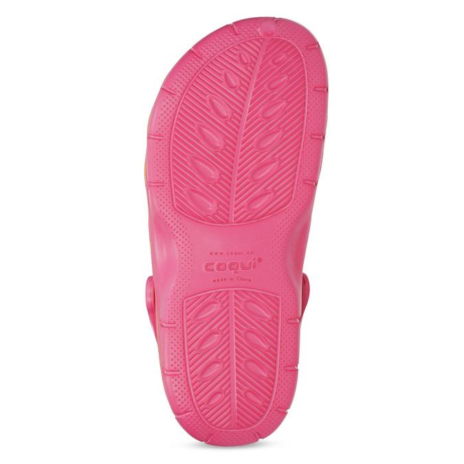 Růžové sandály typu Clogs coqui, růžová, 372-5656 - 18