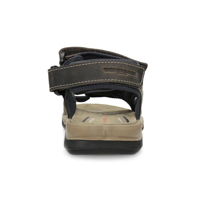 Kožené sandály na suché zipy hnědé weinbrenner, hnědá, 866-4642 - 15
