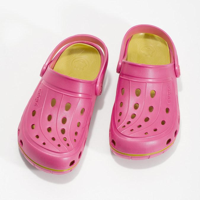 Růžové sandály typu Clogs coqui, růžová, 372-5656 - 16
