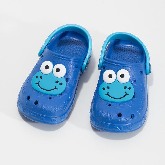 Modré dětské sandály s žabkou coqui, modrá, 272-9651 - 16