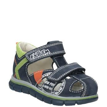Chlapecké kožené sandály s potiskem mini-b, modrá, 166-9604 - 13
