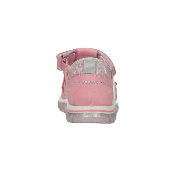 Dívčí kožené sandály s potiskem mini-b, růžová, 166-5604 - 15