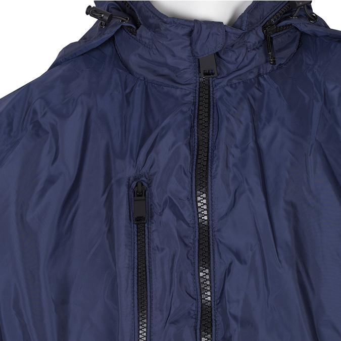 Modrá pánská bunda s kapucí bata, modrá, 979-9220 - 16